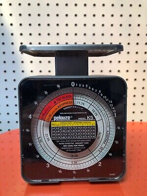Vintage Pelouze Model K5 Tabletop Mechanical Postal Scale 5 Lb Capacity