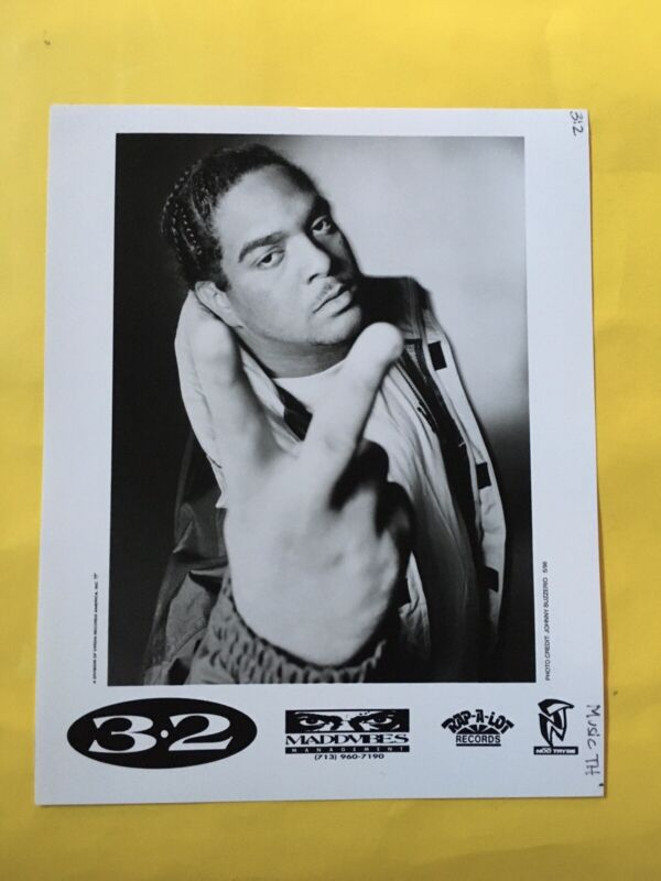 "3-2 Press Photo 8x10"", Christopher Barriere, Rap-A-Lot Records."