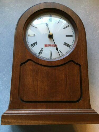 """Vintage - """"Beefeaters"""" Gin Advertising Wood Clock - A Man Cave Must Have!"""