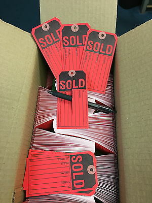 Sold Tags Red Wslit 13pt. Tag Stock Box Of 1000 2 38 X 4 34