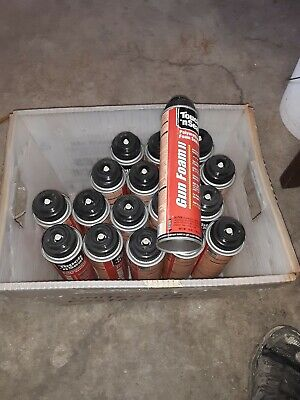 18 Cans Of Touch-n-seal Polyurethane Foam Sealant With Gun. Never Used. Wow