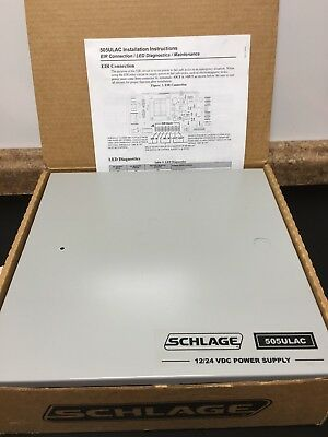 New Nos Schlage 505ulac Power Supply 1 Amp 1224 Volts Dc 505ulac