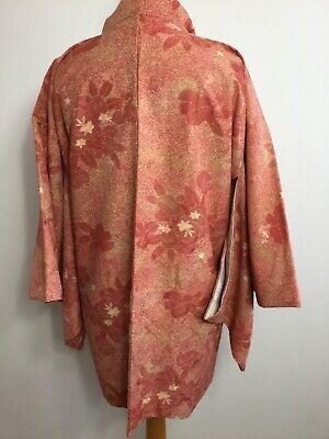 Vintage Authentic Kimono Haori Jacket Royal Gorgeous Floral, Unused #035