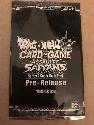 Dragon Ball Super CCG Sealed Series 7 Pre-Release Pack Assault of the Saiyans x1
