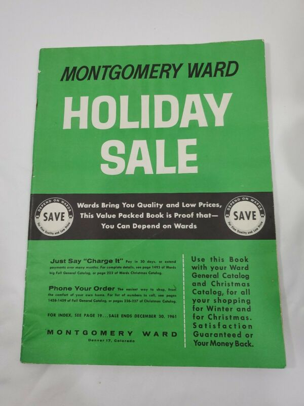 MONTGOMERY WARD WARDS 1961 holiday sale general CHRISTMAS CATALOG WISHBOOK 103pg