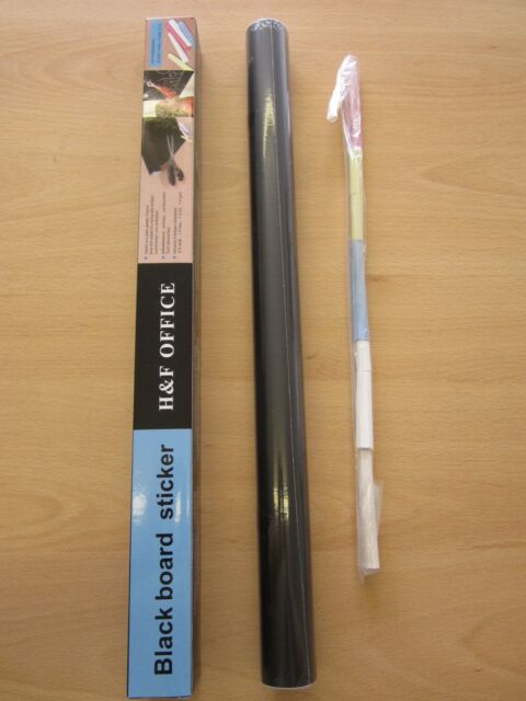 Large Roll Peel Adhesive Sticky Back Black Board Blackboard Stick on Kids Door