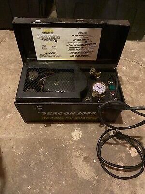 Sercon 1000 Refrigerant Recovery Machine Used Free Ship