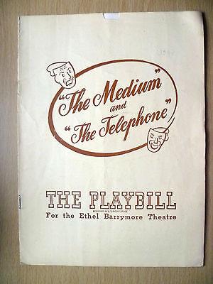 June 1947-Ethel Barrymore Theatre Playbill-THE MEDIUM & THE TELEPHONE-G C Menoti