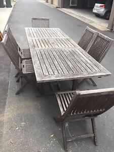 Outdoor Teak table and Chairs Naremburn Willoughby Area Preview