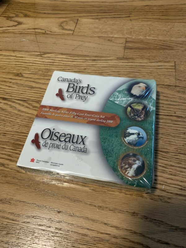 Canada 2000 50 Cent Four-Coin Set Silver Birds Of Prey - Sealed (New Unopened)