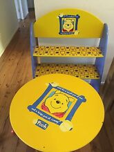 Winnie the Pooh table and book shelf Woy Woy Gosford Area Preview