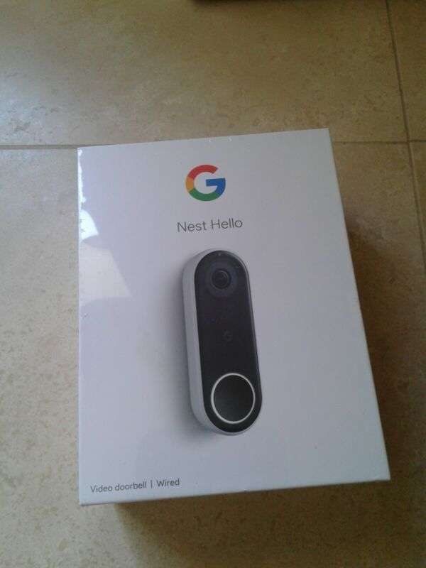Nest Google Hello Smart Wi-Fi Video Doorbell NC5100US  WIRED FACTORY SEALED!!