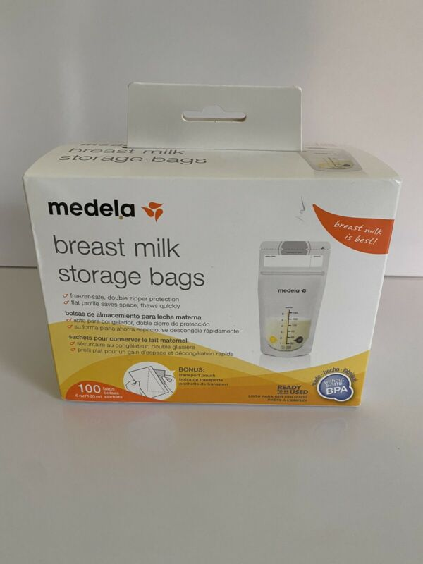 Medela 100 Count 6 Oz Breast Milk Storage Bags Double Zip FAST SHIPPING