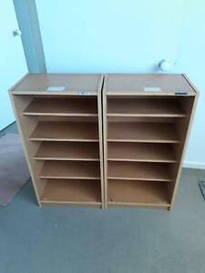 2 x 5-Shelf Plywood Bookcases Carina Brisbane South East Preview