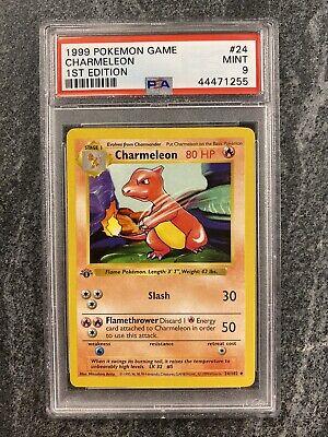 PSA 9 1st Edition Shadowless Charmeleon Base Set Pokemon Card Non Holo 1999