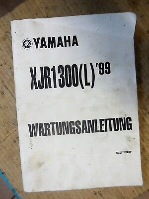XJR1300 L Yamaha Werkstatthandbuch Original Wartungsanleitung 5EA-28197-GO-OP