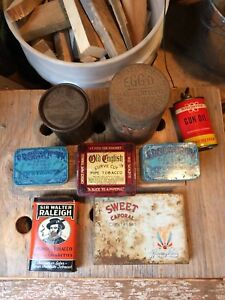 VINTAGE ANTIQUE TINS AND MORE