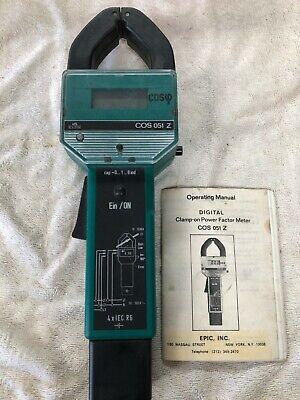 Epic Digital Clamp-on Power Factor Meter Cos 051 Z