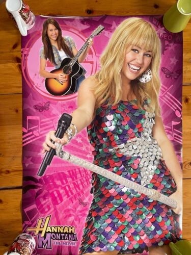 HANNAH MONTANA,MILEY CYRUS, AUTHENTIC 2000's POSTER
