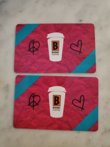 Biggby Coffee 50 2x 25 Gift Cards Biggby s Giftcards - Cafe Like Starbucks  - $25.00