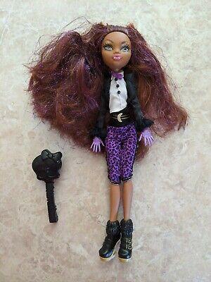 "Monster High 11"" Doll CLAWDEEN WOLF WEREWOLF SWEET 1600 BIRTHDAY BRUSH LOT"