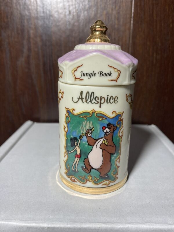 Walt Disney Lenox Jungle Book Allspice Vintage Spice Jar 1995