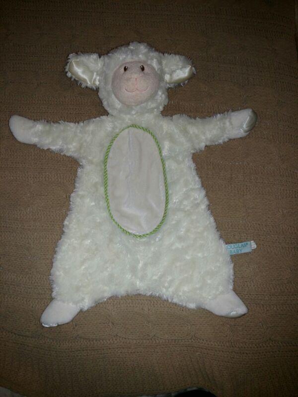 """Douglas Baby Cuddle Toy Plush Soft Ivory Lamb Lovey Security Blanket 17"""""""