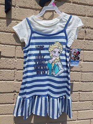 NEW Disney Frozen Elsa Girls Shirt & Dress Multiple Sizes
