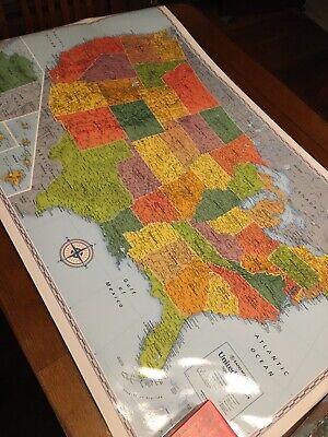 Rand McNally Wall Map Signature Edition United States 50 X 32 Laminated School