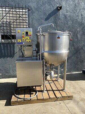 Cleveland 100 Gallon Steam Kettle W Mixer Agitator Food Equipment Bakery Groen