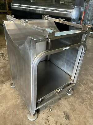 Deli Buddy 22 X 23 Stainless Steel Mobile Rolling Meat Slicer Stand Whandle