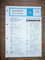 Service Manual For Telefunken Opus 6060, Original -  - ebay.co.uk