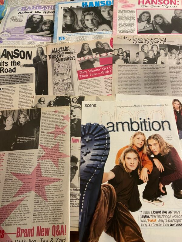 Hanson Lot of EIGHT Full and Two Page Vintage Clippings