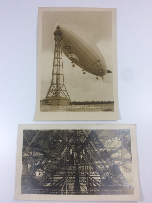 Rare Original USS Los Angeles Airship Photos Interior Hull ZR-3 Zeppelin