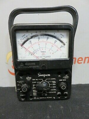 Simpson 260 Series 8 Analog Volt Ohm Milliammeter Multi-meter