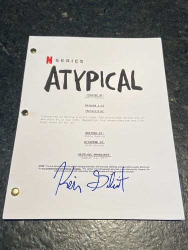 * KEIR GILCHRIST * signed full tv show script * ATYPICAL * COA * 1