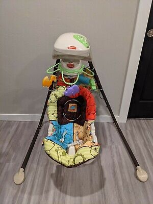 Fisher-Price Luv U Zoo Spacesaver electronic Swing and Seat ( 2 In 1 Product )