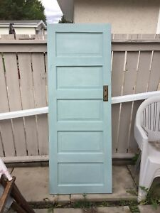 Antique solid wood door. Perfect for repurpose.