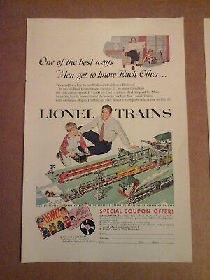 Vtg 1954 AD - Lionel Trains -
