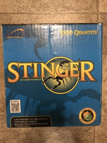 Stinger RPS Paintballs, Green Shell with Orange Fill, .68 Ca