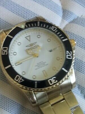 """INVICTA Pro Diver 41.5mm Unisex Gold & Red Excellent """"Mint"""" working Condition"""
