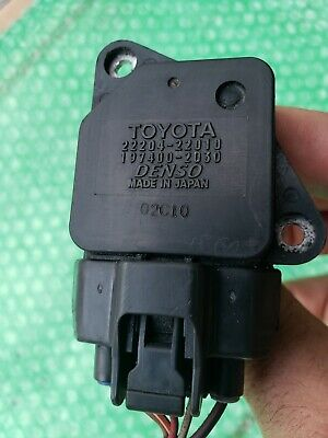 Mass Air Flow Sensor Toyota Denso IS300 22204-22010 197400-2030 Made in Japan