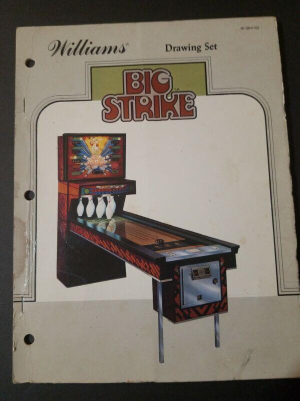 Original Williams Big Strike Arcade Game Drawing Set/Schematics