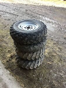 2 front 2 rear atv tires