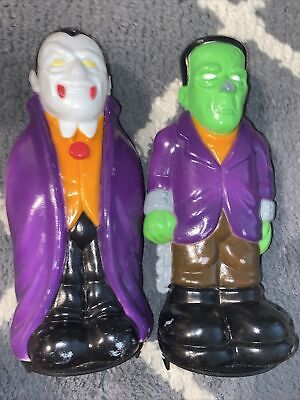Empire Halloween Blow Mold Dracula Frankenstein Pathway Light Cover Topper 1995