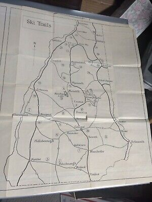 1937 NEW HAMPSHIRE MAP & Ski Trails Works Progress Administrations FDR Project