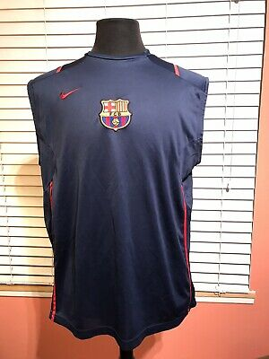 Nike Barcelona F.C. Training Jersey Mens Large Sleeveless Shirt Soccer Football Barcelona Training Jersey