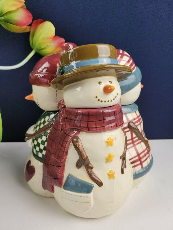 Make the Season Bright 4 Snowman Cookie Jar