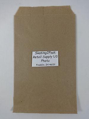 Bronw Kraft Paper Flat Merchandise Bags Gift Retail Shopping 8.5 X 11