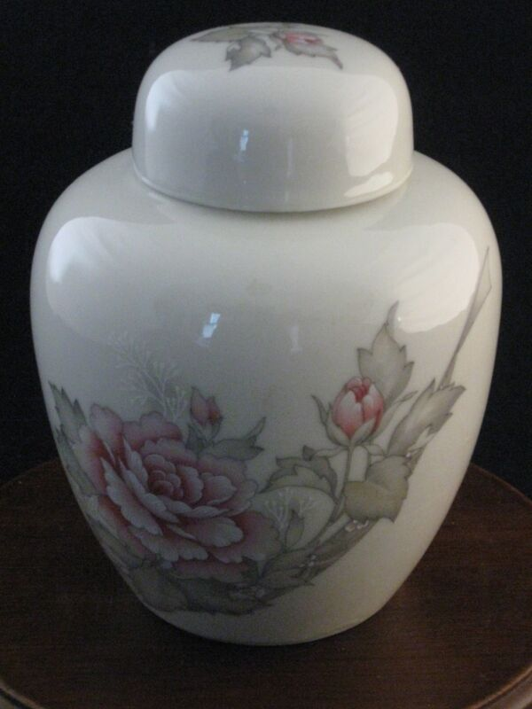 "Russ Berrie & Co. 5"" Porcelain Ginger Jar with Lid Made in Japan"
